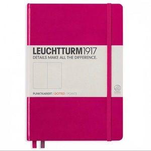 LEUCHTTURM1917 A5 Hardcover Dotted Notebook Berry